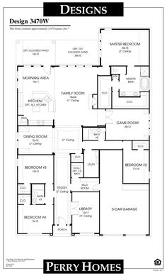 Floor Plan for 3470W Close in portion of garage for exercise room.