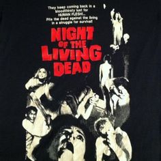 Vintage 1980s Night of the Living Dead horror movie t-shirt