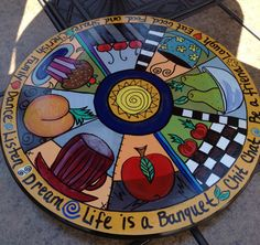 Hand Painted 15 Lazy Susan by paintingbymichele on Etsy, $99.00