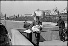 SOVIET UNION. Moscow. 1954. The Moscow Kremlin and the Moskva River.