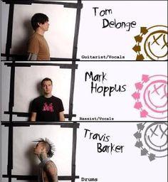 Leden van de  punk-rock/skate-punk/pop punk band Blink-182.