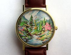 Vintage Paint by Numbers Watch River Scenery by 10northcreative