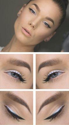 Beautiful white and black eyeliner