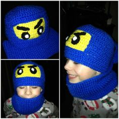Lego Ninjago crochet hat and neck warmer!