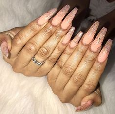 We are offering you a fun chance to take a look at a great variety of coffin nails designs that will inspire you to make some experiments. Check out these 60 amazing ideas. Ranging from simple and solid to totally extravagent. Coffin Nails Long, Long Acrylic Nails, Gorgeous Nails, Pretty Nails, Hair And Nails, My Nails, Acryl Nails, Modern Nails, Nailart