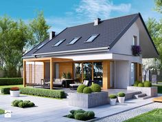 homify is an online platform for architecture, interior design, building and decoration. homify offers everything the end user requires, from the planning stage, up to the delivery of the keys to your dream home. Beautiful House Plans, Dream House Plans, Beautiful Homes, Dream Home Design, Modern House Design, My Dream Home, Future House, My House, Street House