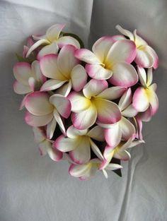 Frangipani Heart Bouquet