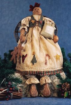 Cloth Doll Pattern - Holiday Gingerbread Doll Epattern