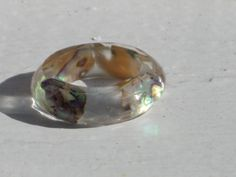 Size 6.25 Abalone Puau Shell Faceted Band Resin by MonkeyNavigated, $12.00