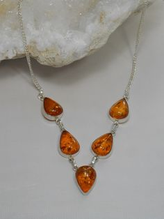 *Amber Necklace 2 #Amber #silver #necklace