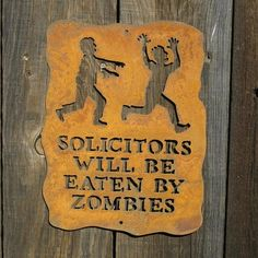 "How about this ""no soliciting"" sign, @Jerry Smoot??"