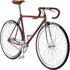 Pure Fix Premium Fixed Gear Single Speed Bicycle 54cm/ Medium Roosevelt Red/Silver https://mountainbikeusa.co/pure-fix-premium-fixed-gear-single-speed-bicycle-54cm-medium-roosevelt-redsilver/