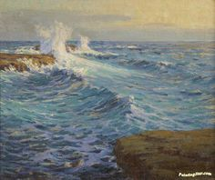 The Mighty Deep, 1918 Artwork by Granville Redmond Hand-painted and Art Prints on canvas for sale,you can custom the size and frame