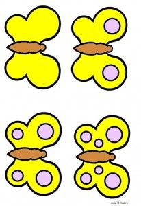 * Vlinders (logiset) - geel 5-6 mini bataille
