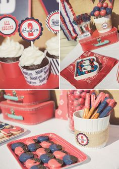 Vintage Red  Blue Train Party {2nd Birthday}