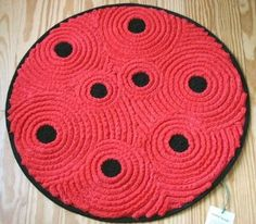 Shirred cotton ladybug rug from Sewfaux | Shop apparel, fashion | Kaboodle
