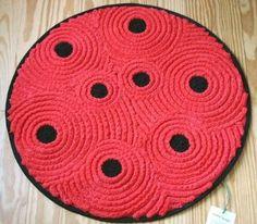 Shirred cotton ladybug rug from Sewfaux | Shop apparel, fashion | Kaboodle