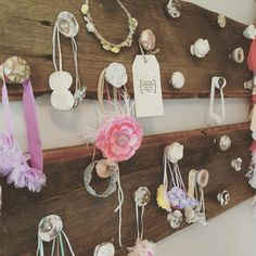 Headband display for a photography studio or little girls room.