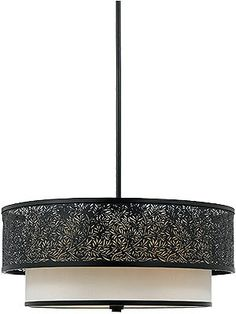 Restoration Lighting. Utopia Large Pendant With 3 Lights In Mystic Black