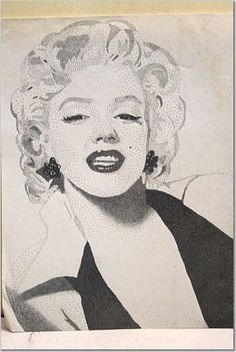 Marilyn Monroe by Anne Marie Price #AMP www.ampriceart.com #MarilynMonroe #CA #pointillism #LA #inspiration Ink Pen Art, Pointillism, Marilyn Monroe, Amp, Inspiration, Black, Biblical Inspiration, Black People, Dot Painting