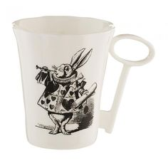 Buy the Alice in Wonderland Rabbit Mug with Key Handle, part of the eclectic, globally-inspired tableware selection available from Whittard of Chelsea. Film Tim Burton, Alice In Wonderland Rabbit, Whittard Of Chelsea, Mad Hatter Tea, Mad Hatters, All Gifts, Mug Cup, Tea Party, Mugs
