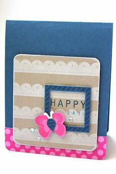 Happy Day Card by Heather Nichols for Papertrey Ink (February 2014)