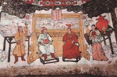 Wall painting from the tomb of a Mongol nobleman, 1269 Image