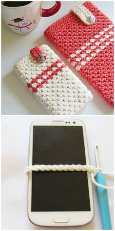 How to make crochet cell phone pouch video instructions crochet case, croch Crochet Phone Cover, Crochet Pouch, Crochet Gifts, Easy Crochet, Free Crochet, Crochet Phone Case Pattern Free, Crochet Quilt, Crochet Ideas, Free Pattern