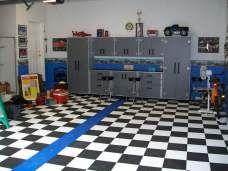 Garage Flooring - Tiles, Mats, Rolls, Coatings and Storage Garage Paint, Car Garage, G Floor, Tile Floor, Garage Floor Mats, Garage Flooring, Cool Garages, Garage Makeover, Garage Storage