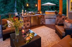Cozy kitchen and outdoor living room! www.paradiserestored.com