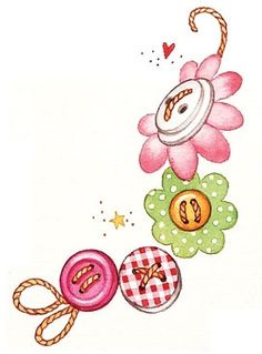 Fun for Friends! Vintage Button Bookmark Crafty Fun for Friends! - Gooseberry PatchVintage Button Bookmark Crafty Fun for Friends! Button Cards, Clip Art, Pintura Country, Cute Clipart, Country Paintings, Sewing Art, Digi Stamps, Scrapbook, Coloring Pages