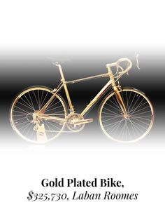 An Exceptional Bike Net Worth, Billionaire, Plating, Bicycle, Gold, Gifts, Instagram, Bike, Presents