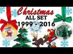 All LEGO Christmas set 1999-2016 Evolution - YouTube Lego Christmas Sets, Christmas Bulbs, Lego Ornaments, All Lego, Evolution, Holiday Decor, Youtube, Christmas Light Bulbs, Youtubers