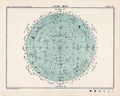 1910 star map 70 original antique celestial print. $20.00, via Etsy.
