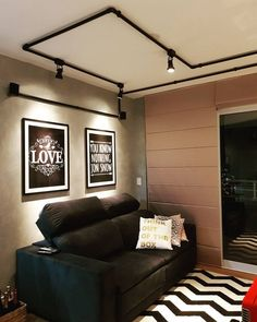 70 Ideas For Apartment Industrial Decor Ceilings - All For Decoration Küchen Design, House Design, Small Studio Apartments, Living Room Furniture Layout, Industrial House, Decoration, Home Decor, Loft, Decor Ideas