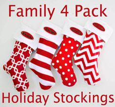 CHRISTMAS STOCKINGS PERSONALIZED Large Christmas by UrbanCreative