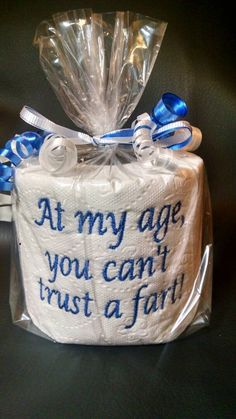 Diy Birthday Gifts Discover embroidered Cant Trust a Fart toilet paper gag gift white elephant gift birthday gift