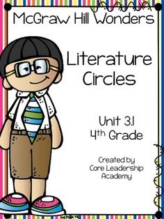 Thinkmark Literature Circle graphic organizer ~ Unit 3.1~There are 4 different levels approaching, on, ell, and advance!  Great for literacy centers! Enjoy!