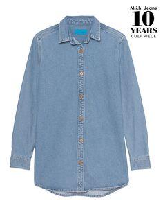 Jeanshemd  Das locker geschnittene Jeanshemd ist aus einem festen Baumwoll-Denim gefertigt und kommt im cleanen Casual-Design.  Take it easy - mit diesem Denim-Shirt sind coole Looks schnell gestylt!