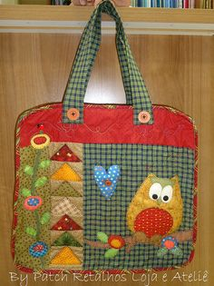 Bolsa Coruja by Patch Retalhos, via Flickr