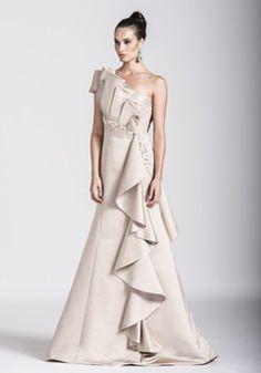 Mild Satin Mermaid One Shoulder Asymmetric Waist Floor Length Evening Dresses - 1300305443B - US$249.99 - BellasDress