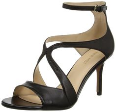 Nine West Women's Gerbera Leather Heeled Sandal > Don't get left behind, see this great  product : Block heel sandals