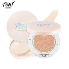 MEMEBOX Pony Shine Easy Glam Blossom Fitting Cushion Foundation 15g*2ea Best deal at Beauty Box Korea MEMEBOX Pony Shine Easy Glam Blossom Fitting Cushion Foundation 15g*2ea