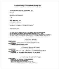6 Interior Designer Contract Templates Free Word PDF Documents