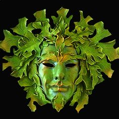 Green man mask also reminds me of Baccus. Would love to try this in a sculptural lampwork glass bead! MonaRAEbeads.etsy.com