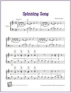 Spinning Song (Ellmenreich) - Free Sheet Music for Easy Piano - http://makingmusicfun.net/htm/f_printit_free_printable_sheet_music/spinning-song.htm