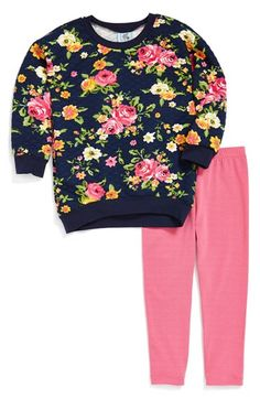 Pippa & Julie Floral Sweatshirt & Leggings (Baby Girls) available at #Nordstrom