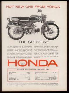 1965 Honda Sport 65 Sun & Fun Motorsports 155 Escort LN SW, Iowa City, IA 319-338-1077, www.sunandfunmotorsports.com