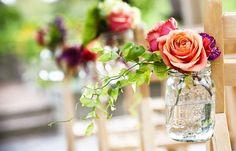 mason jar bouquets by #finchandthistle