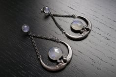 The+Raven+Moon+Chandelier+Earrings+by+charlotteburkhart+on+Etsy,+$440.00